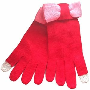 🆕 Kate Spade Red Tech-Friendly Colorblock Gloves